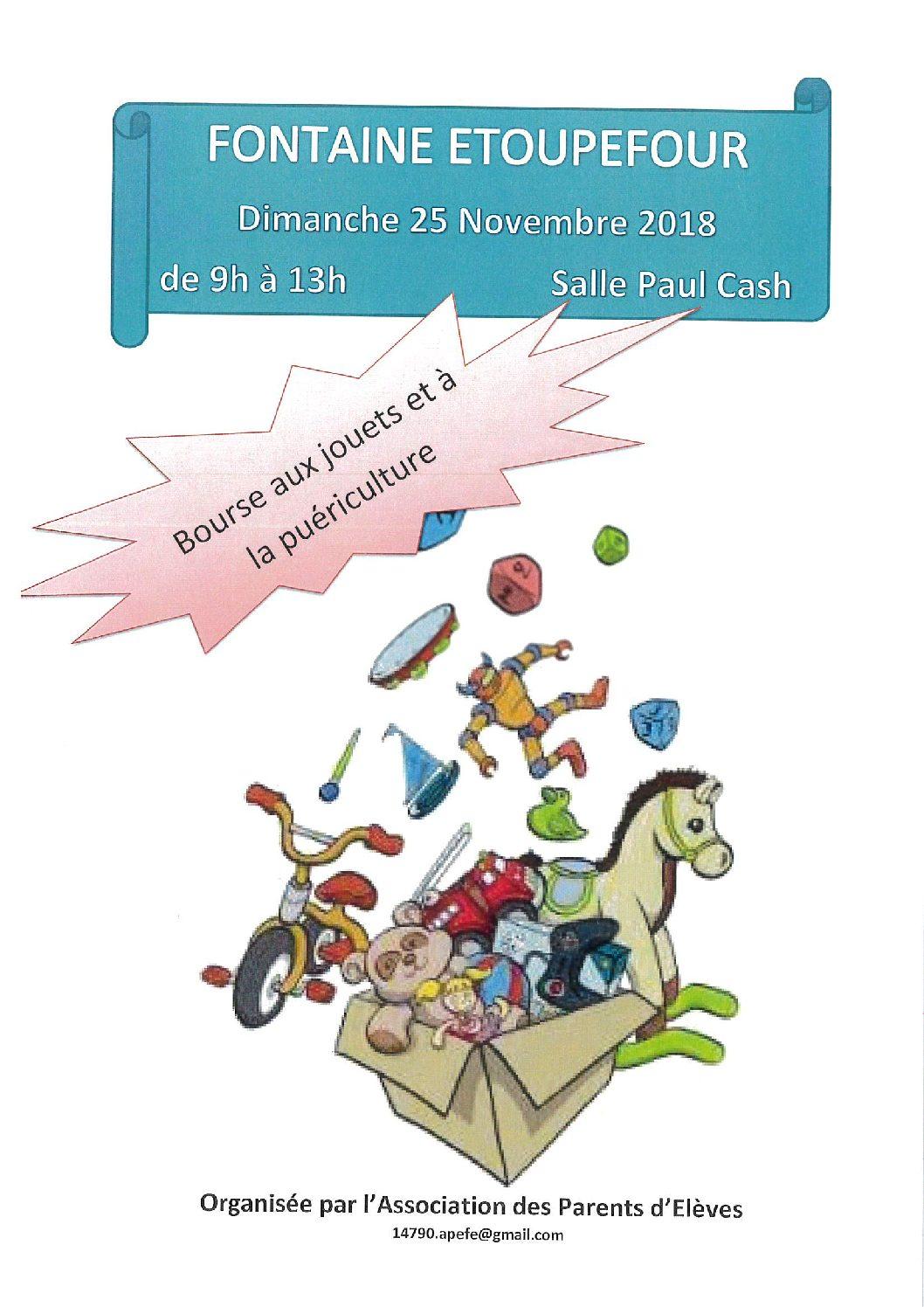 Bourse aux jouets et à la puériculture organisée par l'Association des Parents d'Élèves