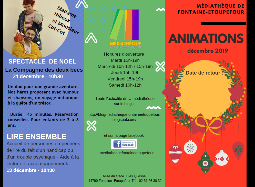 ANIMATIONS Décembre 2019