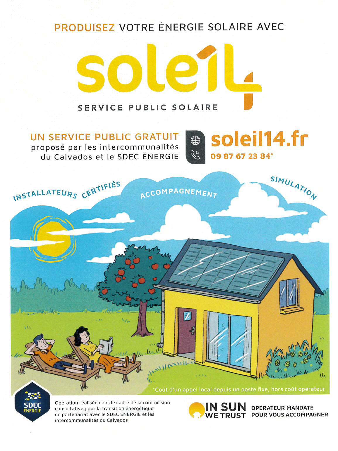 SOLEIL  14 : Service public solaire gratuit