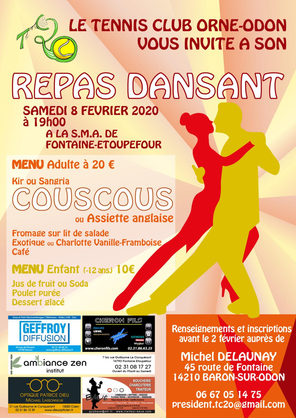 Repas dansant Tennis Club Orne Odon
