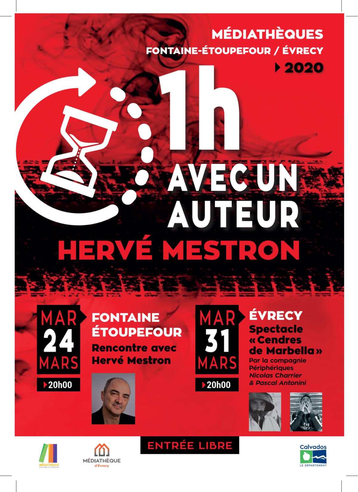 1h avec un auteur Hervé MESTRON à la médiathèque